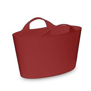 Cesto Flexível Oval -14 Litros - Vermelho