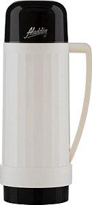 Garrafa Térmica Continental 1L Branco com Preto