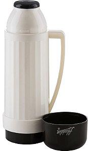 Garrafa Térmica Continental 500ml Branco com Preto