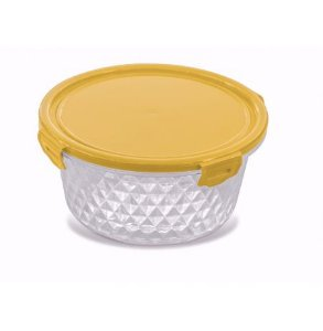 Pote Cristal  1,7L - Redondo Amarelo