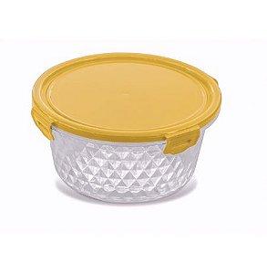 Pote Cristal 1L -  Redondo Amarelo