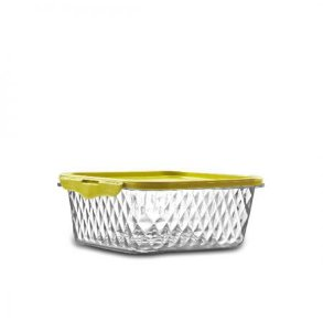 Pote Cristal 1L - Quadrado Amarelo