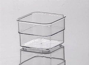 Organizador Cristal Diamond 7,5x7,5x5,2cm