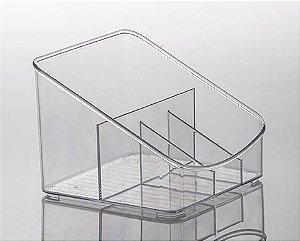 Organizador Cristal Diamond com Divisórias 18x17x13cm