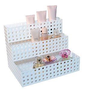 Organizador Empilhável Quadratta 32 x 23 x 8 cm Branco