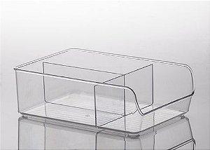 Caixa de Acrílico com Divisória Diamond 28X18X9 cm