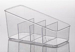 Caixa de Acrílico com Divisórias Diamond 27X13X13 cm