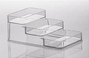 Organizador Acrílico Diamond Triplo 26x16x10 cm