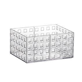 Organizador Empilhável Quadratta 16X11,5 X 8cm Transparente