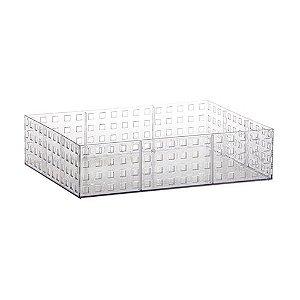 Organizador Empilhável Quadratta 32 X 23 X 8 cm Transparente