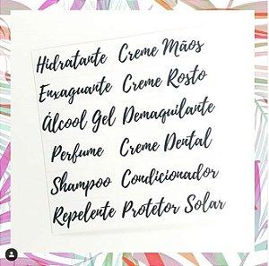 Kit Etiqueta para Necessaire - Vinílica