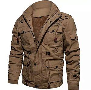 Jaqueta masculina estilo militar