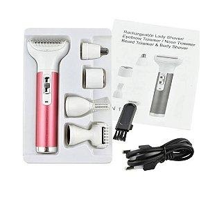 5-em-1 USB de carregamento barbeador elétrico nariz depilador feminino Cabelo aparador à prova d'água - Envio Internacional E Frete Grátis 🛩✈🛫🛬