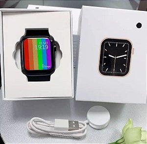 Orginal iwo w46 relógio inteligente amoled 1.75 Polegada tela grande de carregamento sem fio ecg ppg personalizado papel parede smartwatch iwo w46