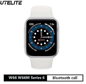 w66 w66m relógio inteligente série 6 1.75 iwo14 NA MULTSHOPIMPORTADOS