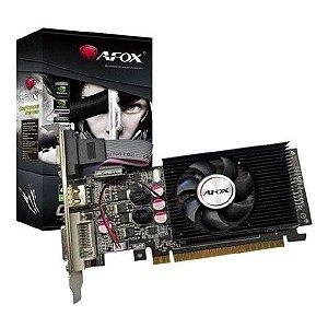 Placa de vídeo PCI-E AFOX nVIDIA GeForce GT 610 2 Gb DDR3 64 Bits Low Profile (AF610-2048D3L5)