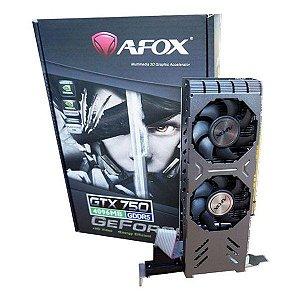 Placa de vídeo PCI-E AFOX nVIDIA GeForce GTX 750 4 Gb GDDR5 128 Bits (AF750-4096D5L4)