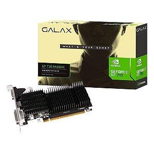Placa de vídeo PCI-E Galax nVIDIA GT 730 2 Gb DDR3 64 Bits Low Profile (71GPF4HI00GX)