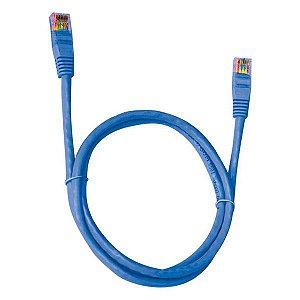 Cabo de rede Ethernet Cat 5E 2,5 metros Plus Cable PC-ETHU25BL