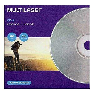 CD-R Multilaser 80 min 700 MB 52x – Envelope (CD006)