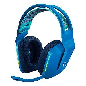 Headset gamer wireless Surround 7.1 Logitech Lightspeed G733 (981-000942) azul