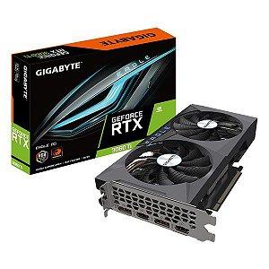 Placa de vídeo PCI-E Gigabyte nVIDIA GeForce RTX 3060 TI Eagle 8 Gb GDDR6 256 Bits (GV-N306TEAGLE-8GD 2.0)