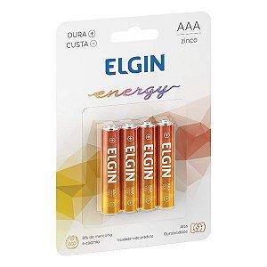 Pilha AAA Zinco 1.5V Elgin R3 (Blister com 4)