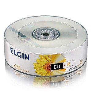 CD-R Elgin 700MB 52x - Tubo Com 25 Unidades (82160)