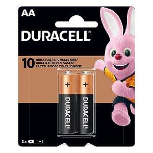 Pilha AA alcalina 1.5V Duracell (Blister com 2)