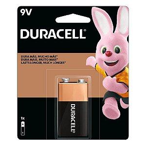 Bateria alcalina 9V Duracell (Blister com 1)