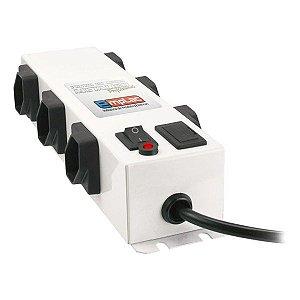 Filtro de linha metálico profissional 6 tomadas Emplac (F50097)