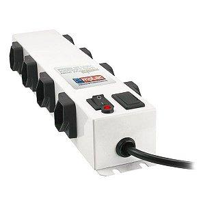 Filtro de linha metálico profissional 8 tomadas Emplac (F50100)