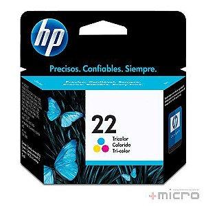 Cartucho de tinta HP 22 (C9352AB) colorido 6 ml