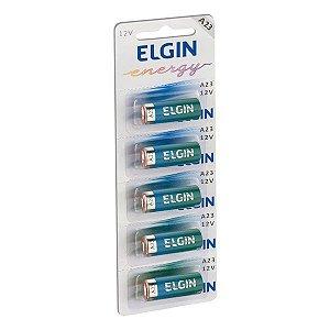 Bateria alcalina 12V A23 Elgin (Blister com 5)