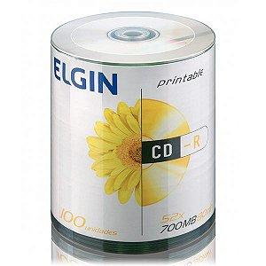 CD-R printable Elgin 80min 700MB 52x - Embalagem com 100 unidades (82045)