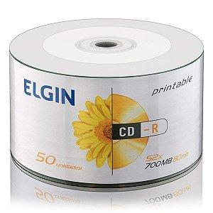 CD-R printable Elgin 80min 700MB 52x - Embalagem com 50 unidades (82201)