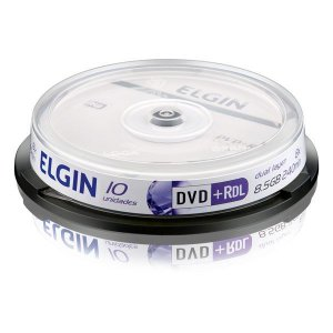 DVD+R Elgin 8,5 Gb 240 min 8x Dual layer - Pino com 10 unidades (82083)