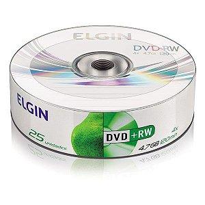 DVD+RW Elgin 4,7 Gb 120 min 4x - Embalagem com 25 unidades (82085)