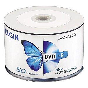 DVD-R printable Elgin 4,7 Gb 16x - Embalagem com 50 unidades (82202)