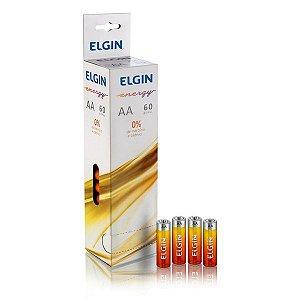 Pilha AA Zinco 1.5V Elgin R6 (Embalagem com 60)