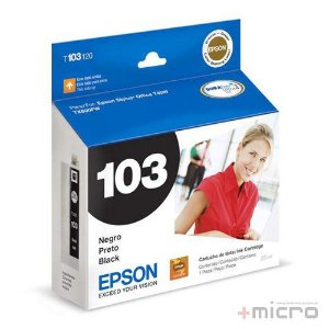 Cartucho de tinta Epson T103120-AL preto 25 ml