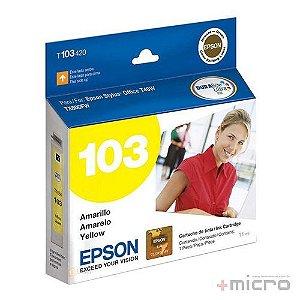 Cartucho de tinta Epson T103420-BR amarelo 11 ml