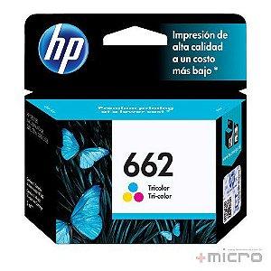 Cartucho de tinta HP 662 (CZ104AB) colorido 2 ml
