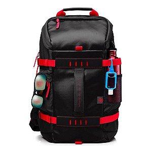 "Mochila para notebook HP Odyssey 15,6"" (X0R83AA) preta/vermelha"