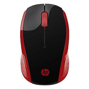 Mouse wireless HP X200 vermelho (2HU82AA)