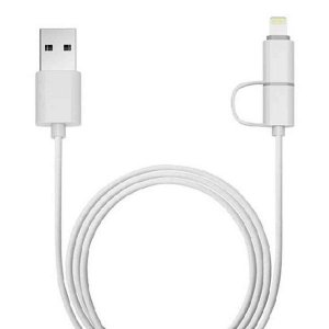 Cabo micro USB + Lightning 8 pinos x USB Plus Cable USB-UL3000WH