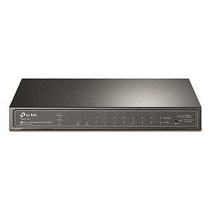 Switch Ethernet PoE 8 portas Gigabit + 2 slots SFP TP-Link Smart JetStream T1500G-10PS (TL-SG2210P)