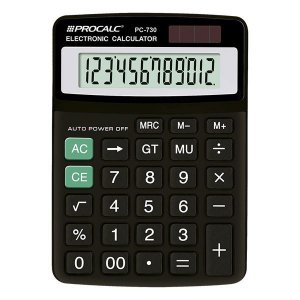 Calculadora de mesa CH Tech Procalc PC730 12 dígitos