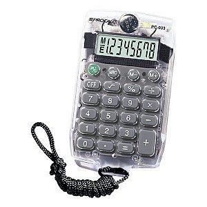 Calculadora de bolso com cordão CH Tech Procalc PC033 8 dígitos