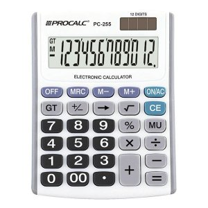 Calculadora de mesa CH Tech Procalc PC255 12 dígitos